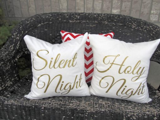 Silent Night, Holy Night Christmas Pillows   Crazy4embroidery.com