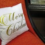 Gold Christmas Pillow
