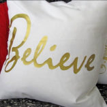 """Believe"" Christmas Pillow Covers 