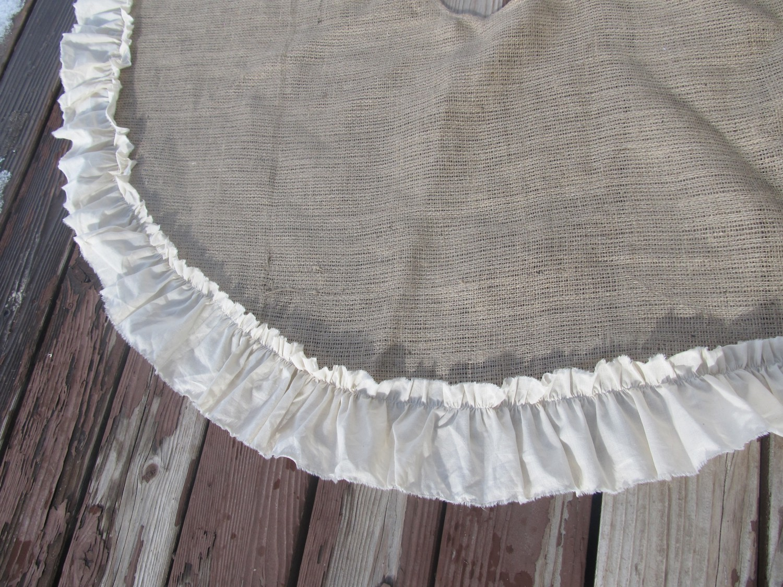 Burlap Tree Skirt Crazy4embroidery Com