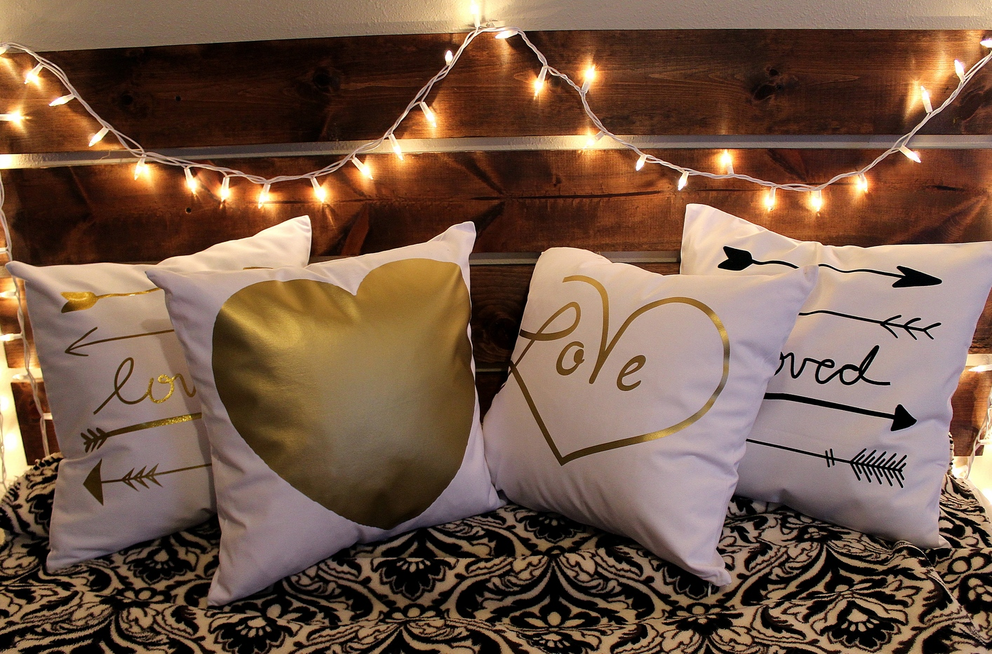 foil case printing pillows pillow cushion bed throw itm cover decorative sofa novelty gold