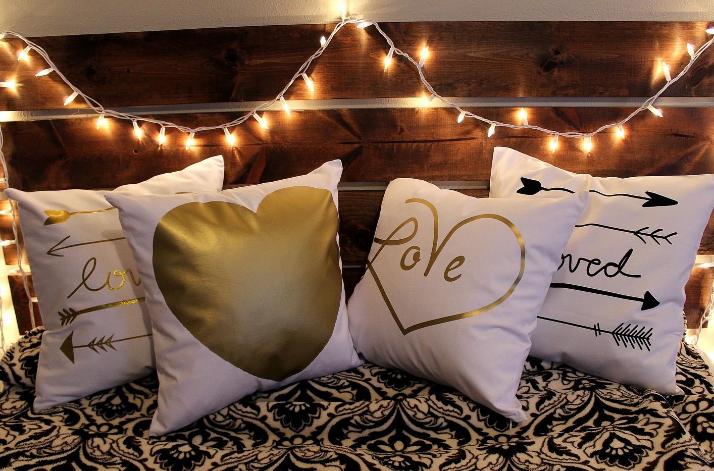 pin koi cases gold pillow decor home dot pattern polka pillows throw